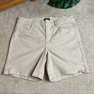 NYDJ Khaki Shorts Stretch Khaki Size 6